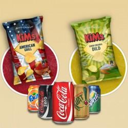 2 valgfrie Chips og 2 Cola