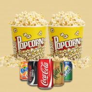 2 Popcorn og 2 Cola