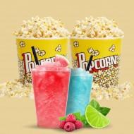 2 Popcorn og 2 Slush ice